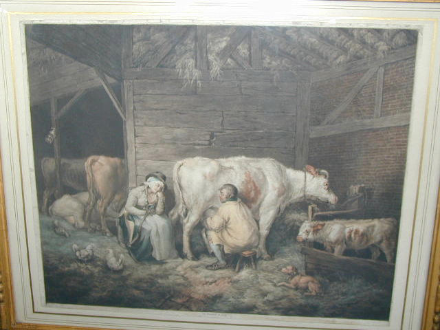 James Ward, R.A. (1769-1859) The Cowman and maid with cattle in the stable image 48.5 x 60cm (19 x 23 1/2in).