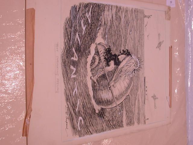 Ernest Howard Shepard (British, 1879-1976) That shrinking feeling 24.5 x 29 cm, unframed.