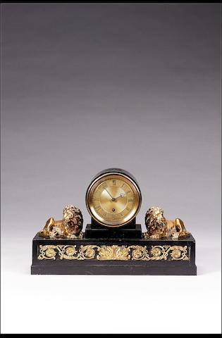 A good and rare early 19th century slate and ormolu mantel timepiece Vulliamy, No 461 18cms