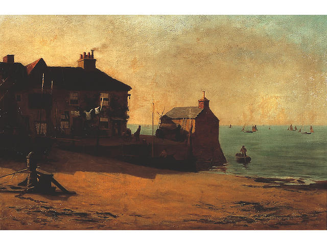 William Graham Buxton, When Golden Morning Lights the Sky, signed and dated 1890, 64 cm x 89 cm