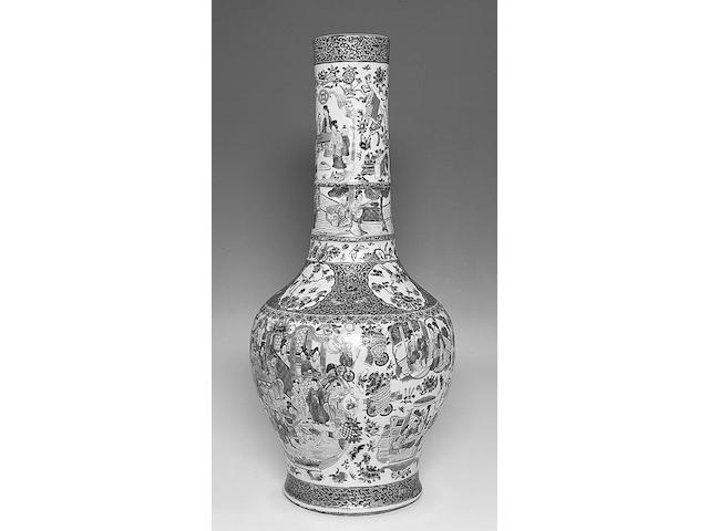 A Canton Export 'famille rose' vase,