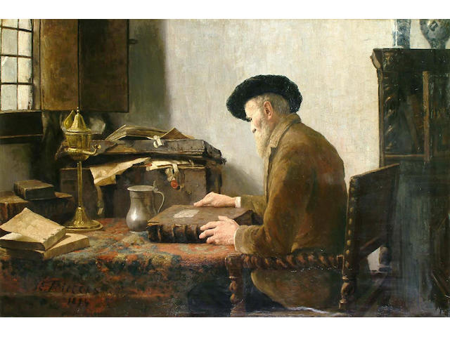 Dutch School, after Pieters, Man in his study