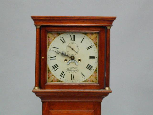 Thos Marsh, Lymington A 19th Century oak longcase clock,
