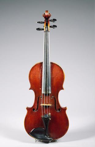 A fine and handsome English Violin by Benjamin Banks Sarum ca 1790, branded B.Banks Sarum on top blo