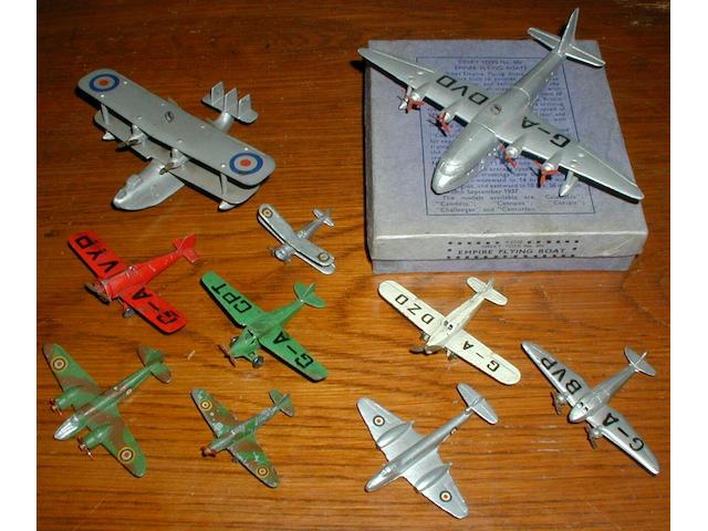 Dinky (pre-war) aircraft (10)