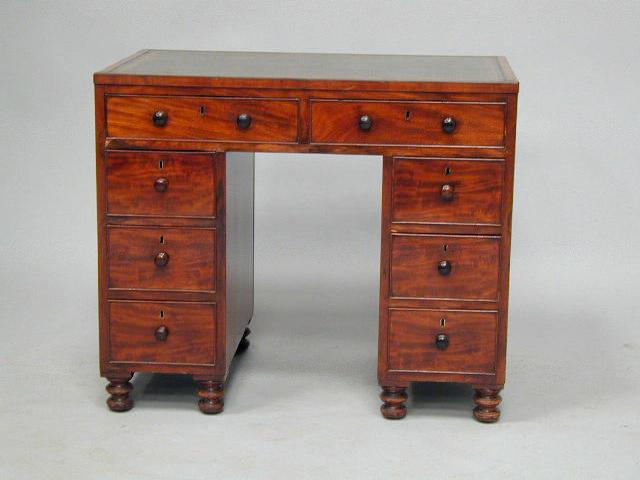 A 19th Century mahogany kneehole desk,