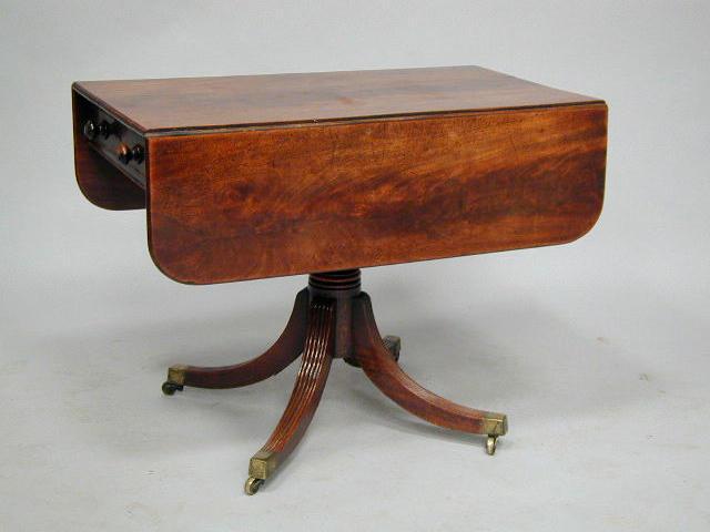 A Regency mahogany Pembroke table,