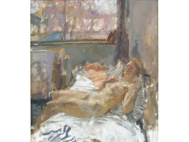 Bernard Dunston (British, b.1920) Heather in the Studio 55 x 49 cm.