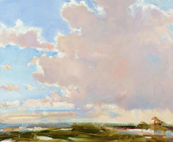 Ken Moroney (British, b.1949) The Fens, Norfolk 48 x 58 cm.