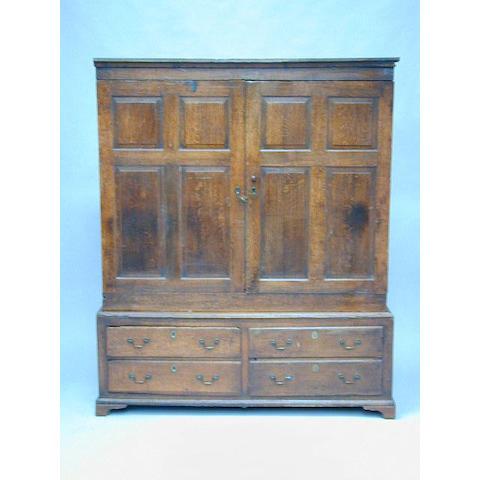 An 18th Century oak bacon cupboard
