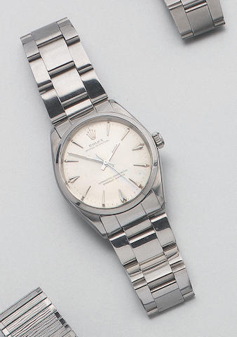 Rolex. A stainless steel automatic centre seconds wristwatch Oyster Perpetual. Ref:1002. 1962 37mm