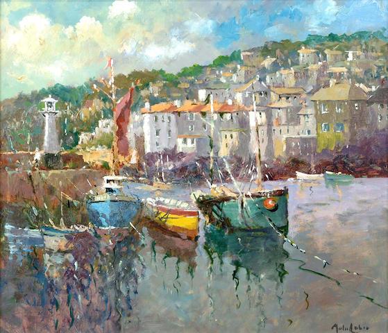 John Ambrose (British, 20th Century) The Harbour, St Ives 45 x 51 cm.
