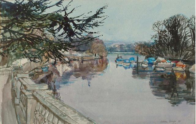 William Bowyer (British, b.1926) River Walk 35 x 54 cm.