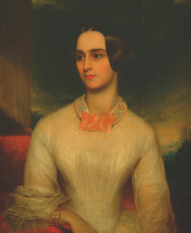 English School, circa 1840 Portrait of a lady member of the Cheke family,