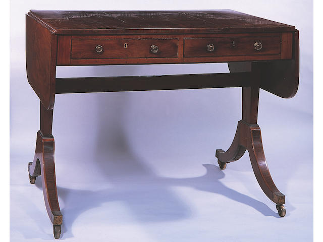 A Regency mahogany sofa table,