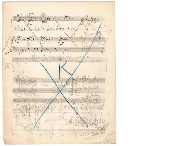 ELGAR (EDWARD) Autograph sketches for his Variations on an Original Theme, 'Enigma', Op.36