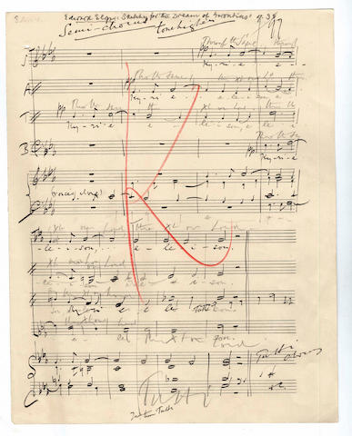 ELGAR (EDWARD) Autograph sketches for The Dream of Gerontius, Op.38