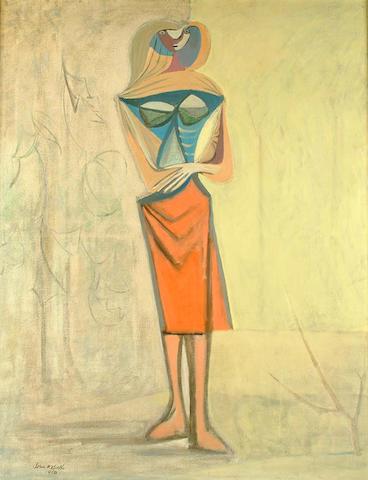 John Melville (British, 1902-1986) Standing Christ Figure 101 x 79 cm.