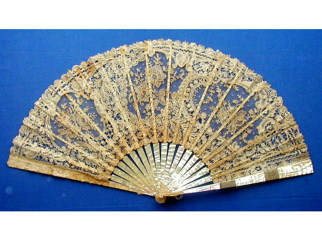 A late 19th Century fan,