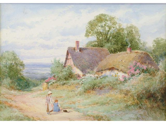 Henry John Sylvester Stannard (British, 1870-1951) Near Stratford on Avon 25.5 x 35.5 cm.