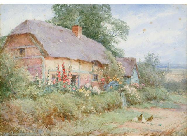 Henry John Sylvester Stannard (British, 1870-1951) Near Sharnbrook, Bedfordshire 25 x 35.5 cm.