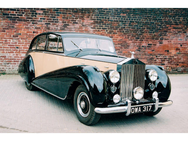 1951 Rolls-Royce Silver Wraith 4,566cc Saloon Coachwork by Park Ward & Co. Ltd.  Chassis no. WOF 36 Engine no. W/35/F