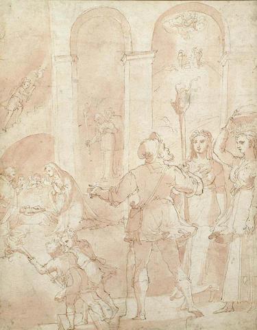 Circle of Federico Zuccaro(1540-1609) Nativity