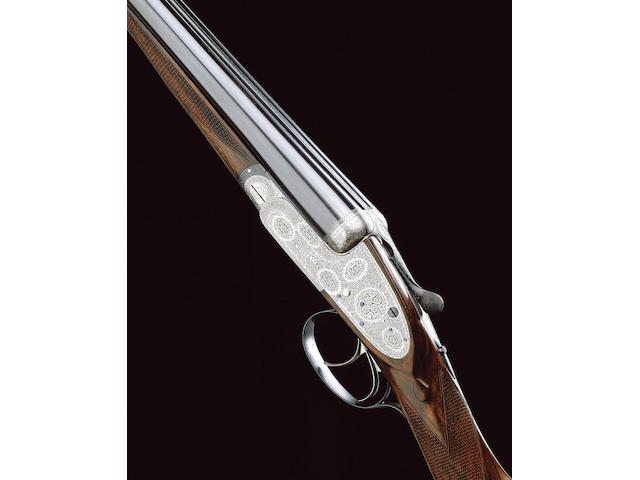 A FINE 16-BORE SIDELOCK EJECTOR GUN BY BOSS, NO. 6642
