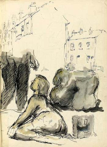 Stuart Sutcliffe's sketch book for admission to the Royal College of Art Liverpool College of Art, dated July 22nd 1957