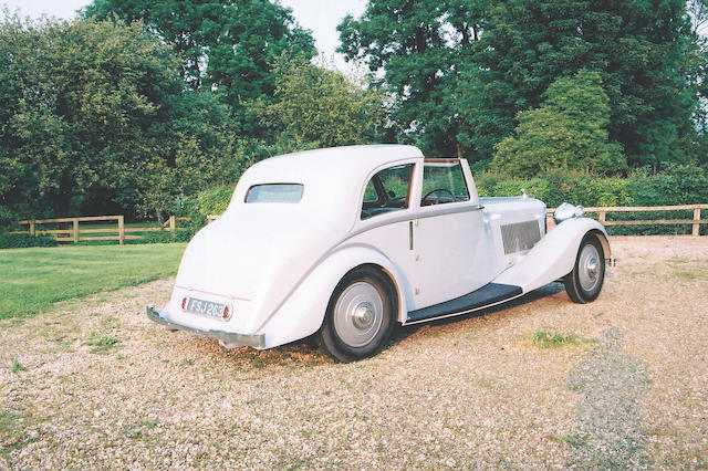 1935 Bentley 3 1/2 Litre Two Door Coupé de Ville Coachwork by Park Ward