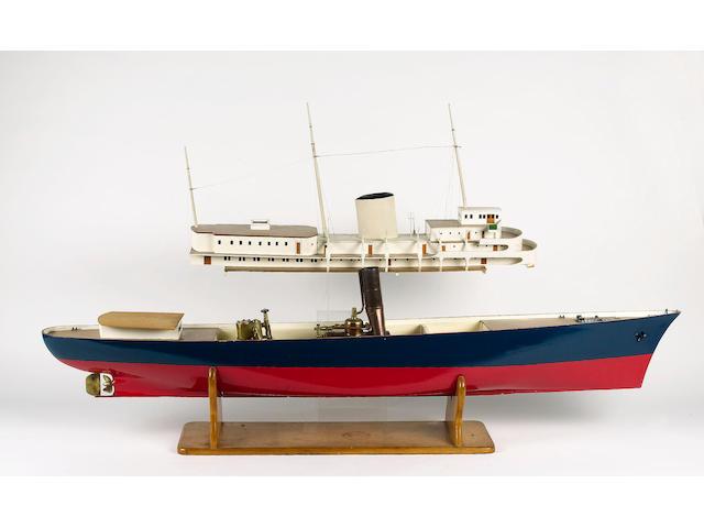 A Very Good Radio controlled Steam Model of the Royal Yacht BRITANNIA 180 x 22 x 62cm