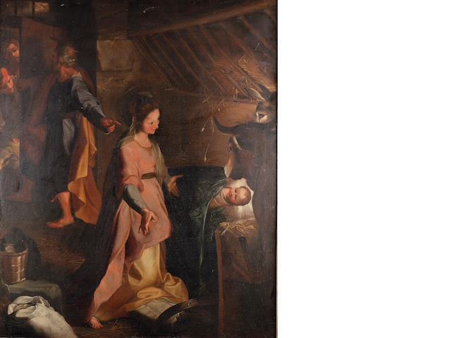 After Federico Barocci, 18th Century The Nativity 135.7 x 111.5 cm. (53 3/8 x 43 7/8 in.)