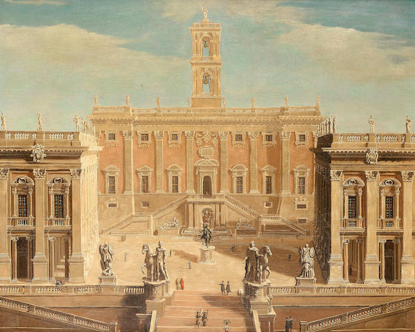Studio of Giacomo van Lint  The Campidoglio, Rome62 x 74.2 cm. (24½ x 29¼ in.)