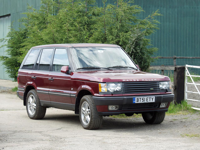 2001 Range Rover 4.6 Estate (to North American specification)  Chassis no. to be advised Engine no. to be advised