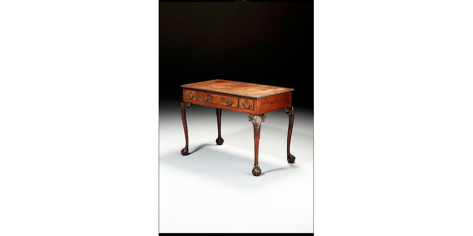 A Chippendale writing table