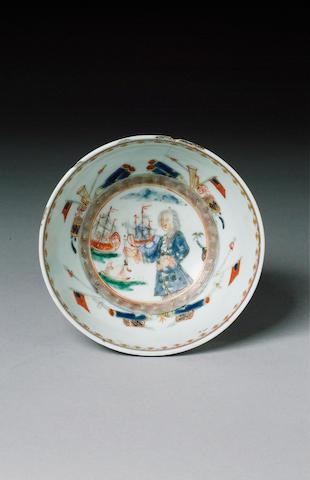 An important 'Admiral Vernon' bowl circa 1740-41