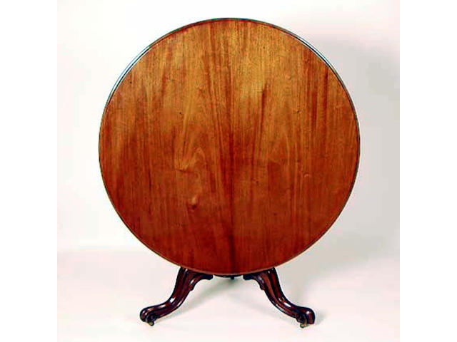 A mid Victorian mahogany loo table, 119cm diameter.