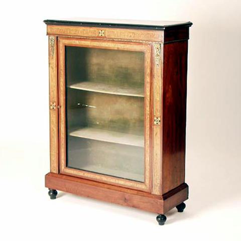 A mid Victorian walnut pier cabinet, 79cm wide.