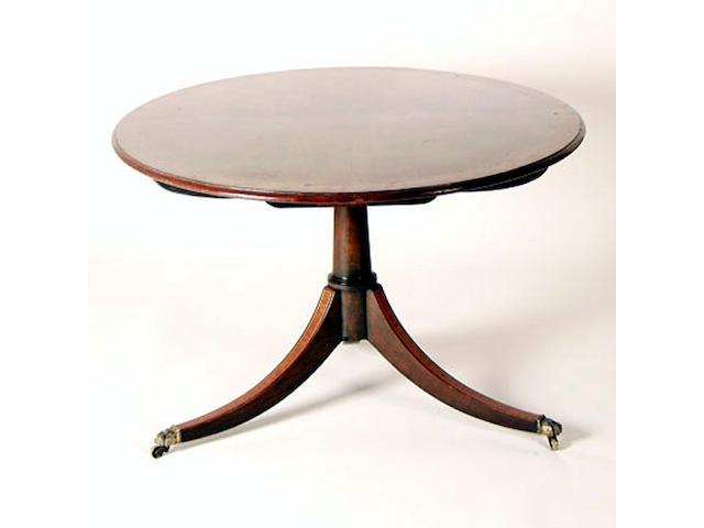 A Regency mahogany breakfast table, 146cm wide.