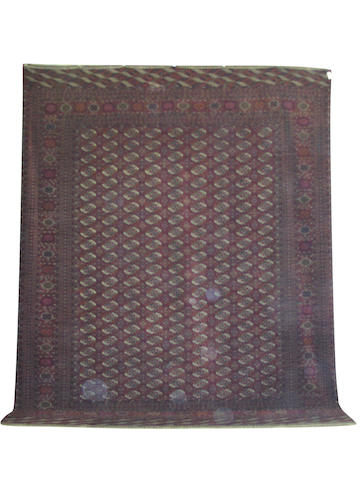 A large Tekke carpet, West Turkestan, 520cm x 396 cm