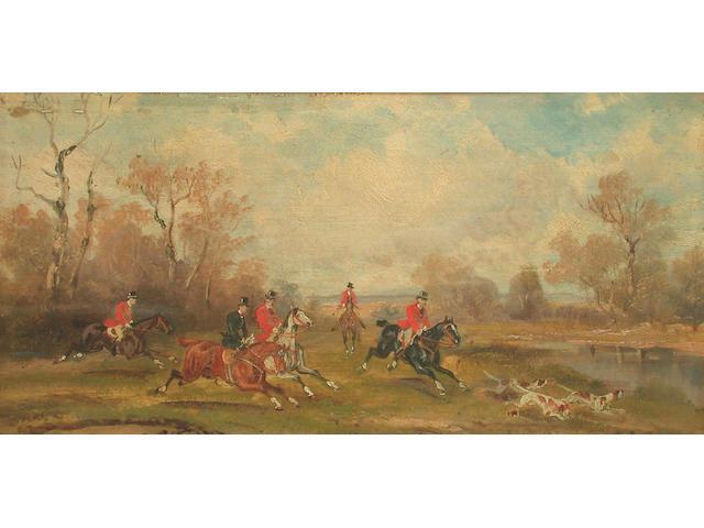 Rudolf Stone Hunting scenes each 14.8 x 13.3cm (4)