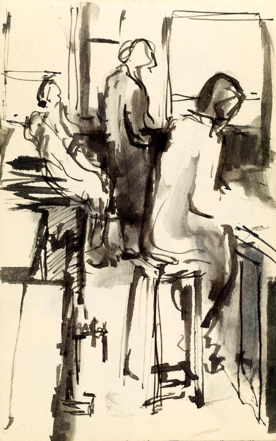 Stuart Sutcliffe's small sketch book  Liverpool College of Art, 1956-59  18 x 11 cm.