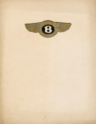 A 4.5 litre Bentley sales catalogue,