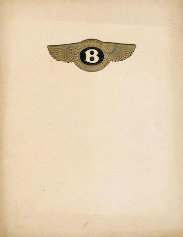 A 4.5 litre Bentley sales catalogue,