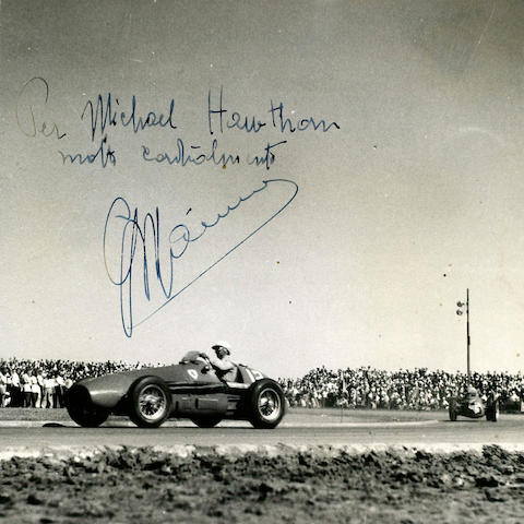 Mike Hawthorn's personal signed commemorative photograph album for the 1953 Argentinian Grand Prix,