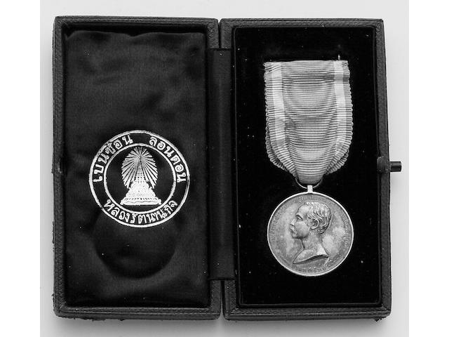 Foreign Medals, Thailand, Rama V, Silver Jubilee Medal 1893, silver. In original case of issue.