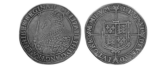 British Hammered, Elizabeth I (1558-1603),  sixth issue Crown, the Queen in decorated dress left, holding sceptre and orb (S.2582).