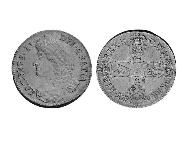 British Milled, - Crown, 1687 TERTIO (S.3407).