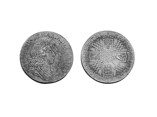 British Milled, William and Mary (1689-1694),  Crown, 1692 QVARTO (S.3433).