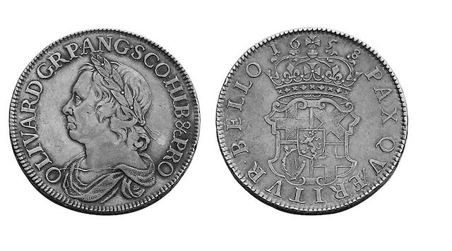 British Milled, Oliver Cromwell (1649-1660),  Crown, 1658/7 (S.3226).
